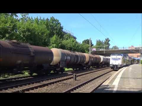 Treinen in Hamburg Harburg 23-08-2017 Deel 2 compleet