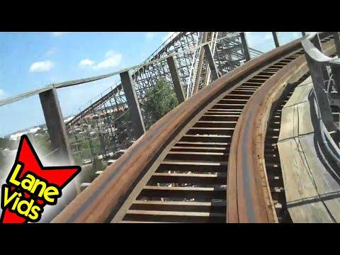 THE RATTLER Roller Coaster - Six Flags Fiesta Texas Theme Park | Theme Park POV Roller Coaster