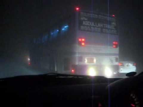 Foggy Motorway Drive