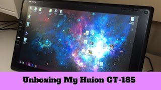 UNBOXING MY HUION GT-185 TABLET - VLOG