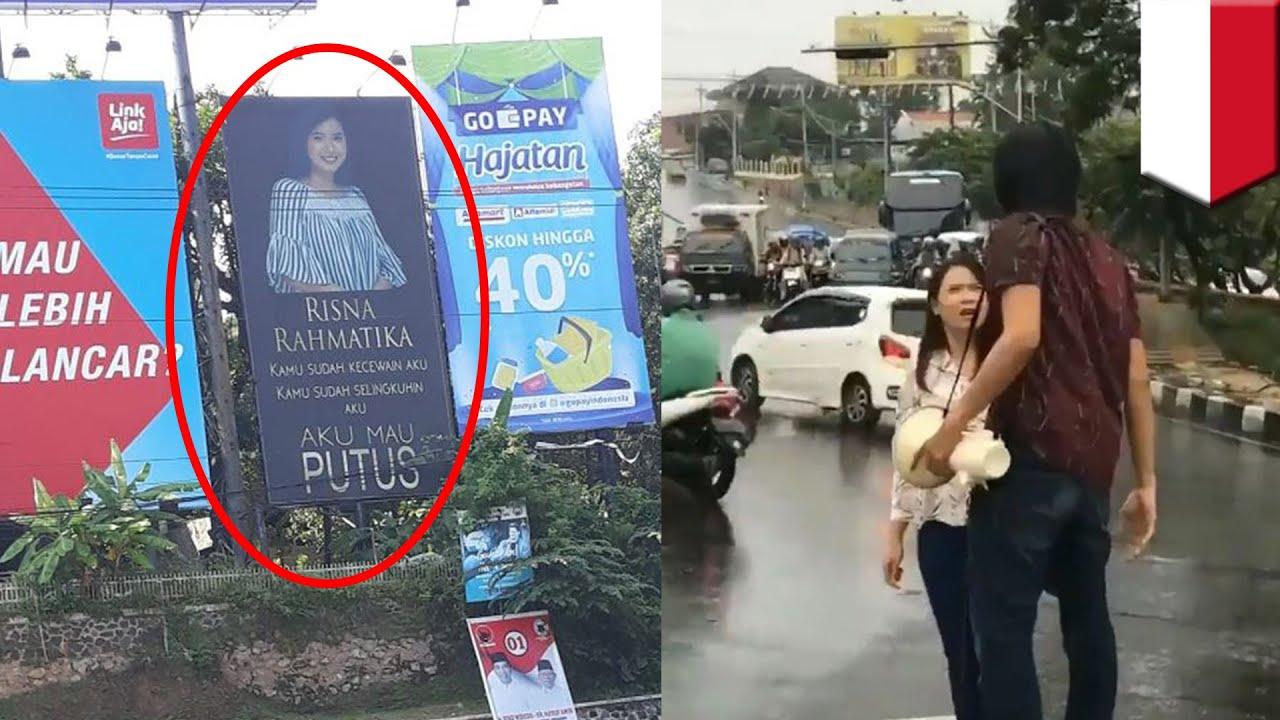Viral Pria Putusin Pacarnya Lewat Baliho Tomonews Youtube