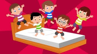 Five Little Monkeys Jumping On The Bed | Kids Tv Nursery Rhymes | Baby Songs | New Kids Song