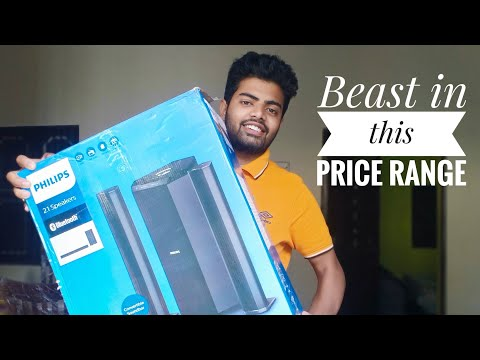 Philips MMS8085B 2.1 convertible bluetooth speaker Unboxing and sound test   Sush vlogs