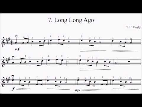 Suzuki Violin Book  Long Long Ago Sheet Music