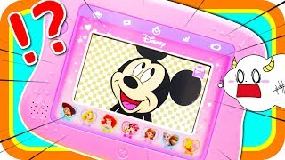 ディズニーキャラクターズ♪♪ ディズニードリームトイパッドでいろんなゲームをしたよ♪