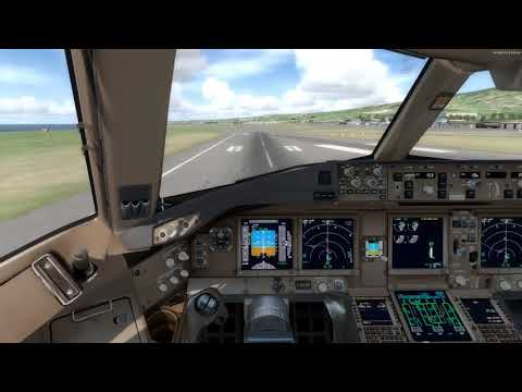 [P3D] PMDG 777-300ER manual landing in Reunion (RUN/FMEE), French Southern and Antarctic Lands