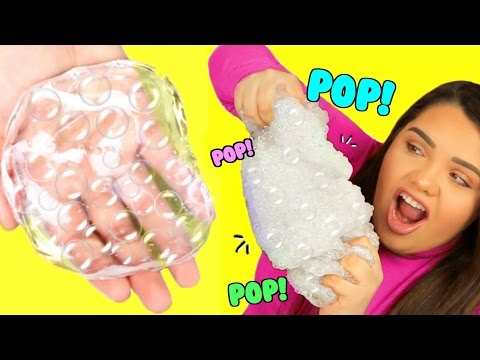 Thumbnail: DIY Bubble Wrap Slime! Super Crunchy Popping Slime!