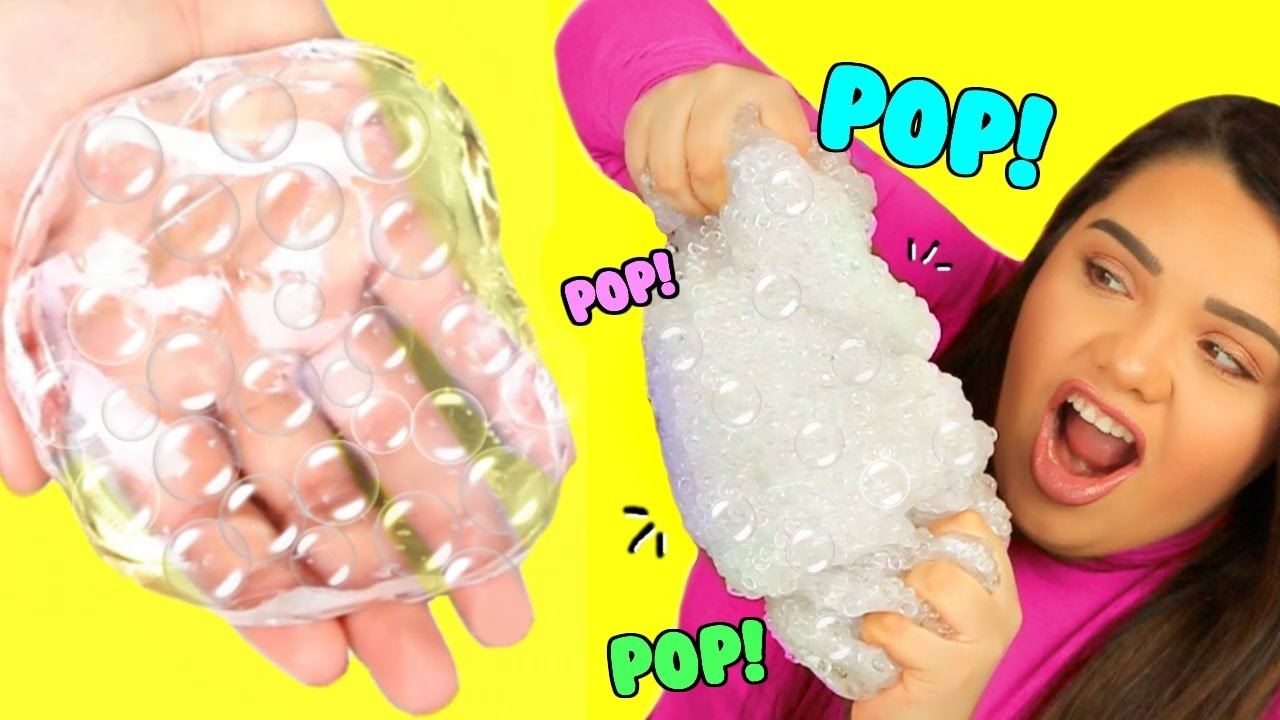 Diy bubble wrap slime super crunchy popping slime youtube ccuart Choice Image