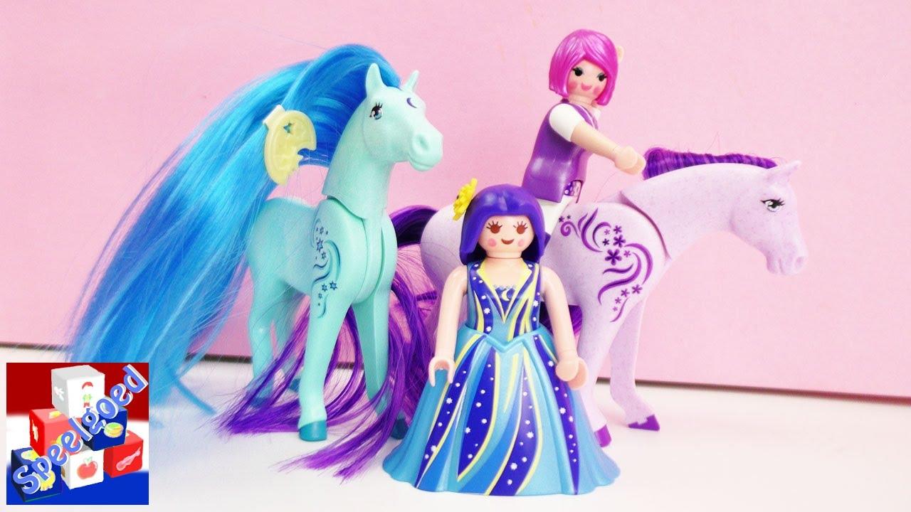 Haar Kammen Met Playmobil Paard Prinsessen Luna En Viola