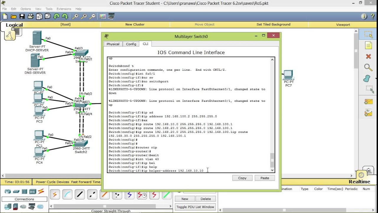 Cisco Router Configuration Dhcp Relay Agent Part 4 Youtube