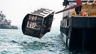 NYC Subway Cars Being Dumped Into The Ocean - You Won