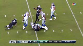 Michael Bennett Sacks Dak Prescott for 9-Yard Loss (Eagles vs  Cowboys, Week 10)