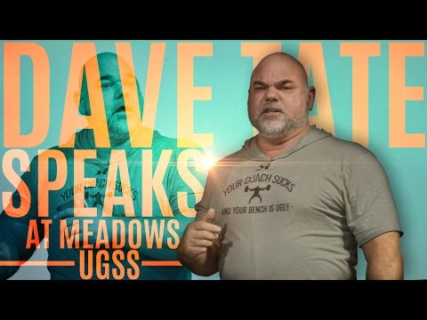 Dave Tate Motivational Rant at John Meadows UGSS - elitefts.com