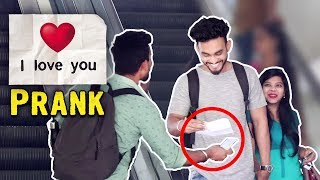 Passing Love Notes on Escalator | YoutubeWale Pranks