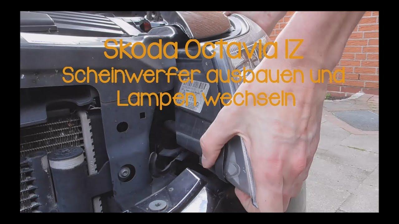Skoda Octavia Lampen : Skoda octavia z scheinwerfer ausbauen und lampen wechseln youtube