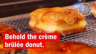 Get these crème brûlée donuts at Astro Doughnuts and Fried Chicken