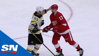 NHL Fights Of The Week: Marchand Battles Hronek In Detroit