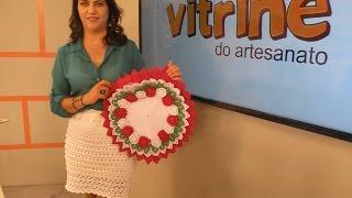 Sousplat com margaridinhas em crochê com Maria José | Vitrine do Artesanato na Tv