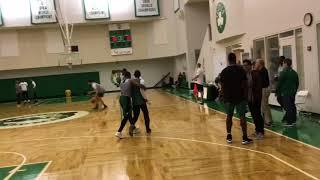 Kyrie Irving gets buckets against Boston Celtics teammates Jaylen Brown, Marcus Smart