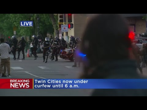 Raw Video: Law Enforcement Moves In To Separate