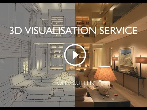 3D Visualisation  Service in a Contemporary Living Room || Lighting Design and Home Decor