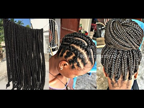 108 Pre Braided Box Braids Youtube