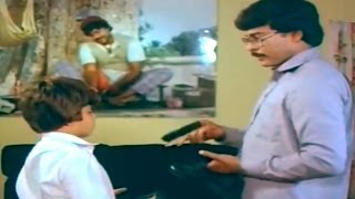 Swayamkrushi Movie || Chiranjeevi Scolding Arjun Scene || Chiranjeevi , Vijayashanti