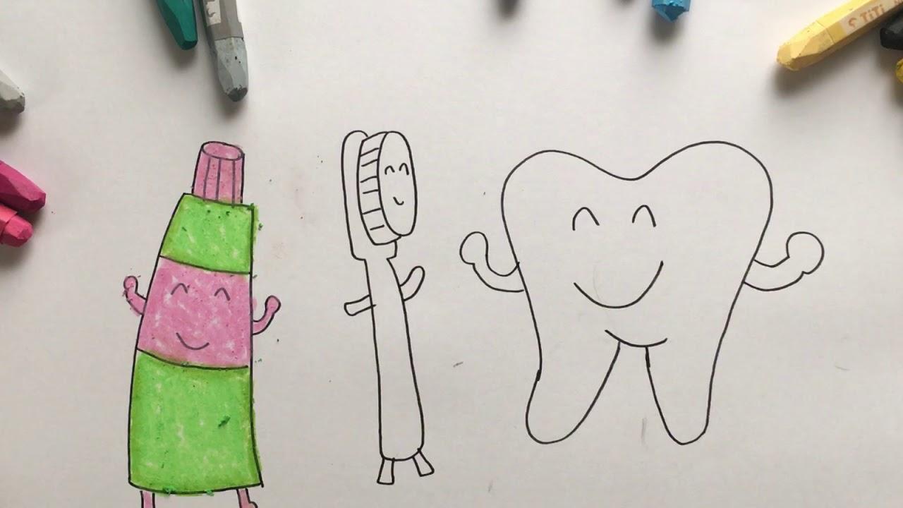 Menggambar Mewarnai Gigi Dan Sahabat Odol Untuk Anak Youtube
