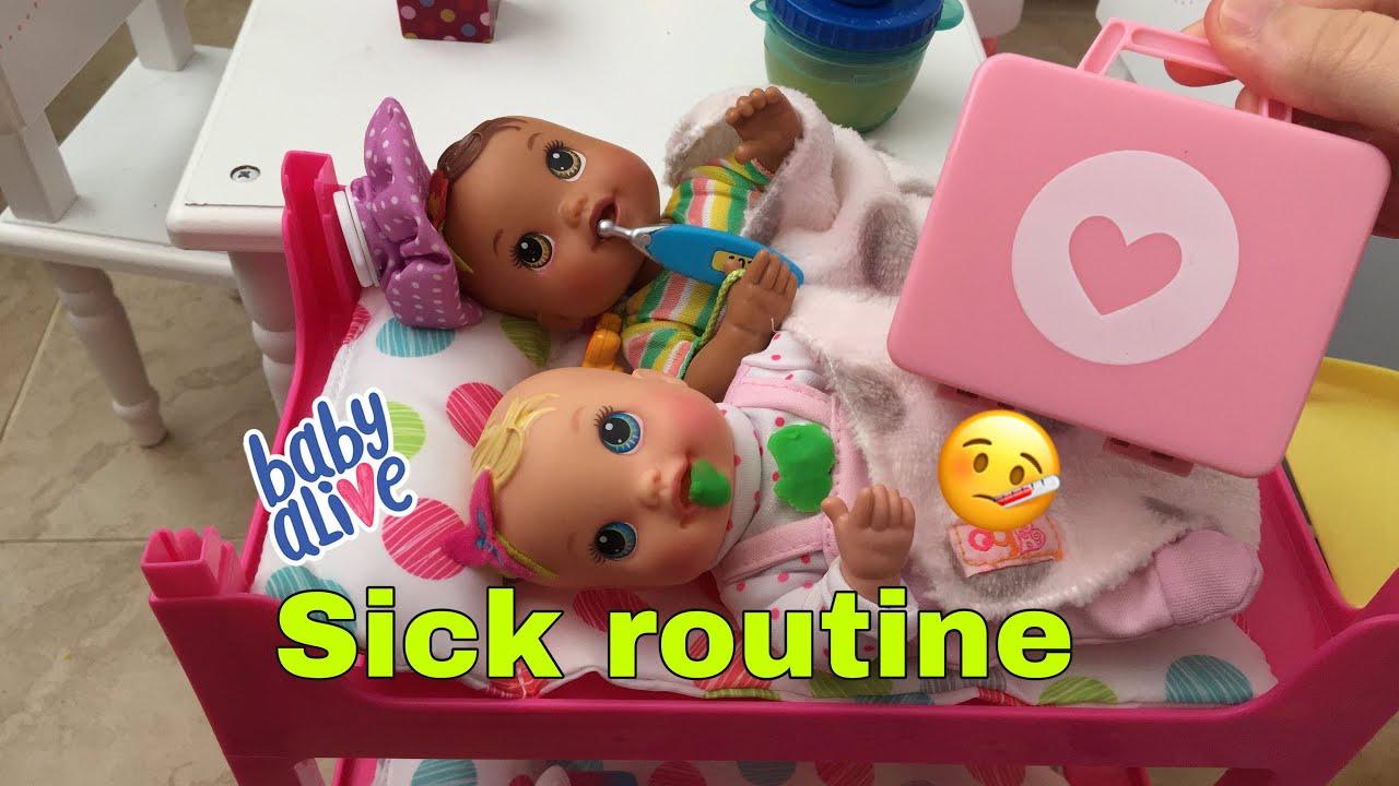 BABY ALIVE Newborn Twins Sick Routine