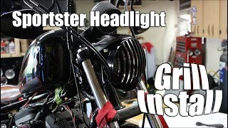 04-14 Sportster Headlight Grill Install