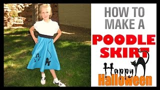 HOW TO MAKE A POODLE SKIRT - 1950