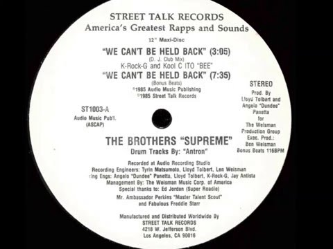 The Brothers Supreme - we can't be held...
