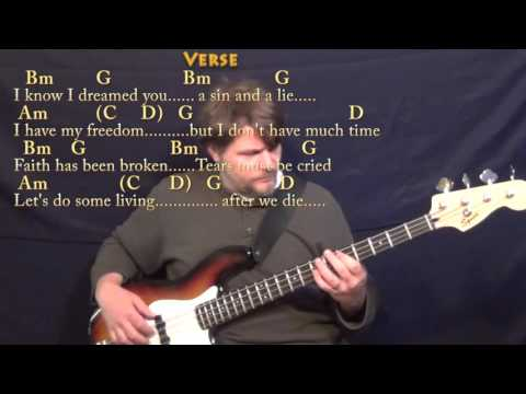 Wild Horses (Rolling Stones) Bass Guitar Cover Lesson with Chords/Lyrics