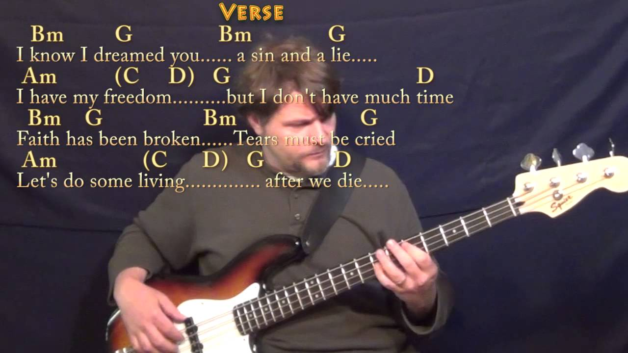 Wild Horses Rolling Stones Bass Guitar Cover Lesson With Chords