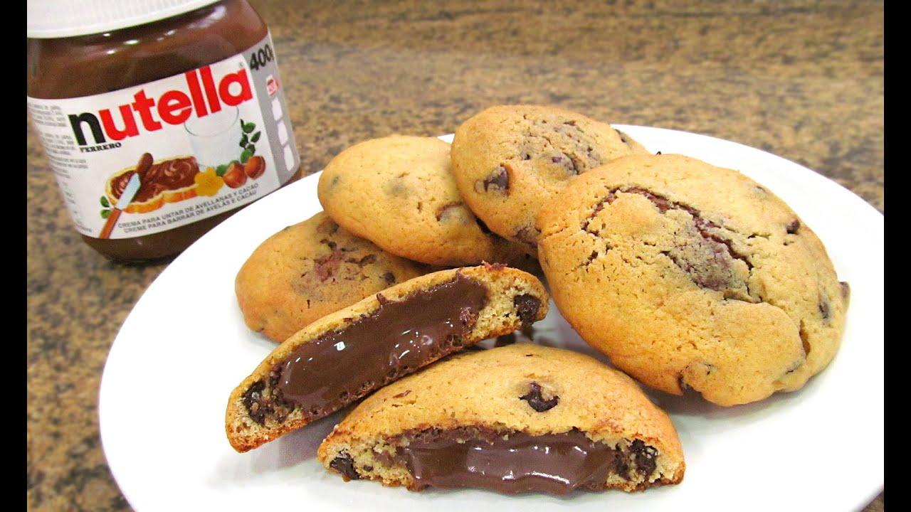 Galletas chocolate chip cookies con nutella youtube for Youtube cocina para todos