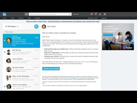Send Personalized Messages with LinkedIn Sponsored InMail