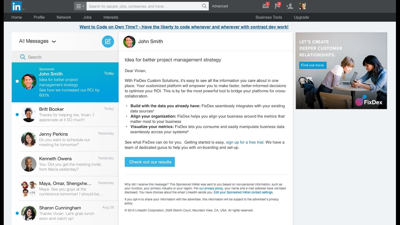 Sponsored InMail | LinkedIn Marketing Solutions