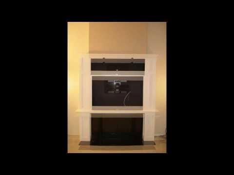 Fireplace & Plasma TV Cabinet Project Time-Lapse