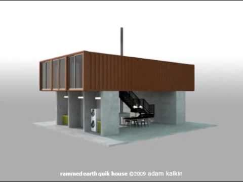 "The Rammed Earth Shipping Container ""Quik House"" by Adam Kalkin"