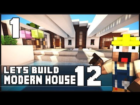 minecraft house tutorial 24x24 modern house doovi