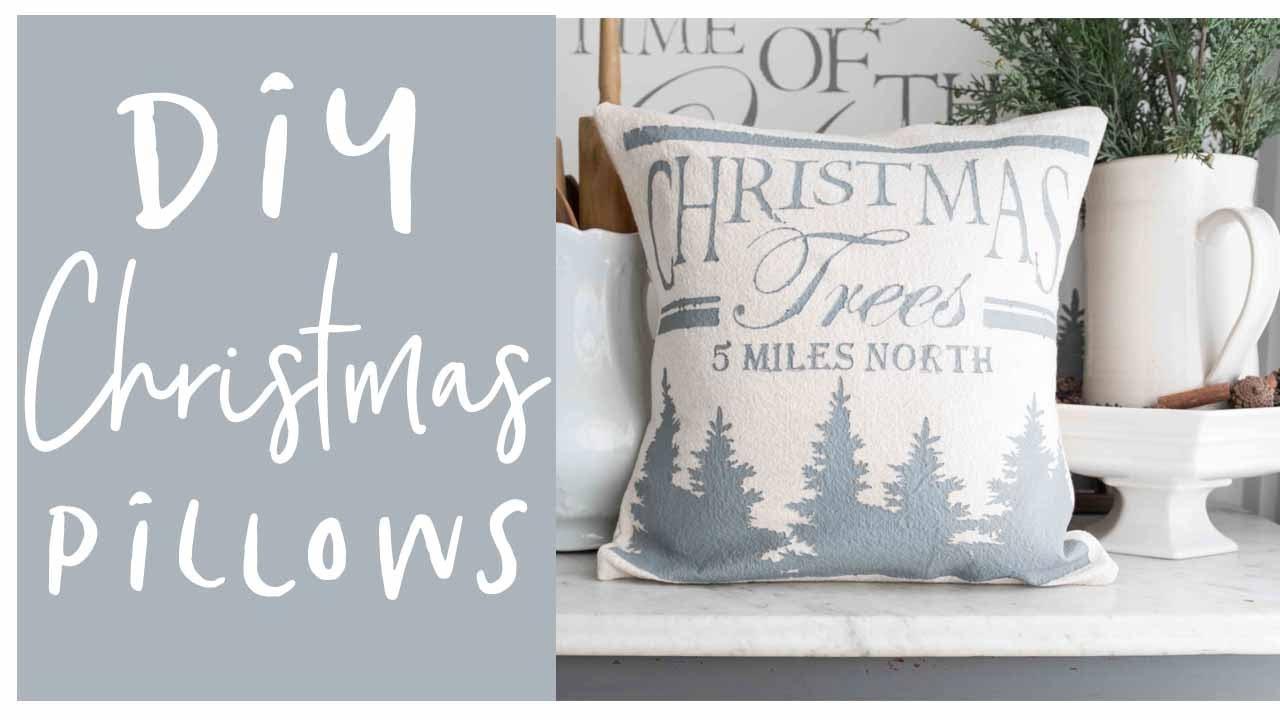 diy home decor farmhouse christmas pillows - Christmas Pillows