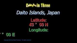 Daito Islands Japan - Latitude and Longitude - Digits in Three