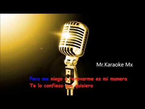 Karaoke Amarte A La Antigua ( Pedro Fernández )