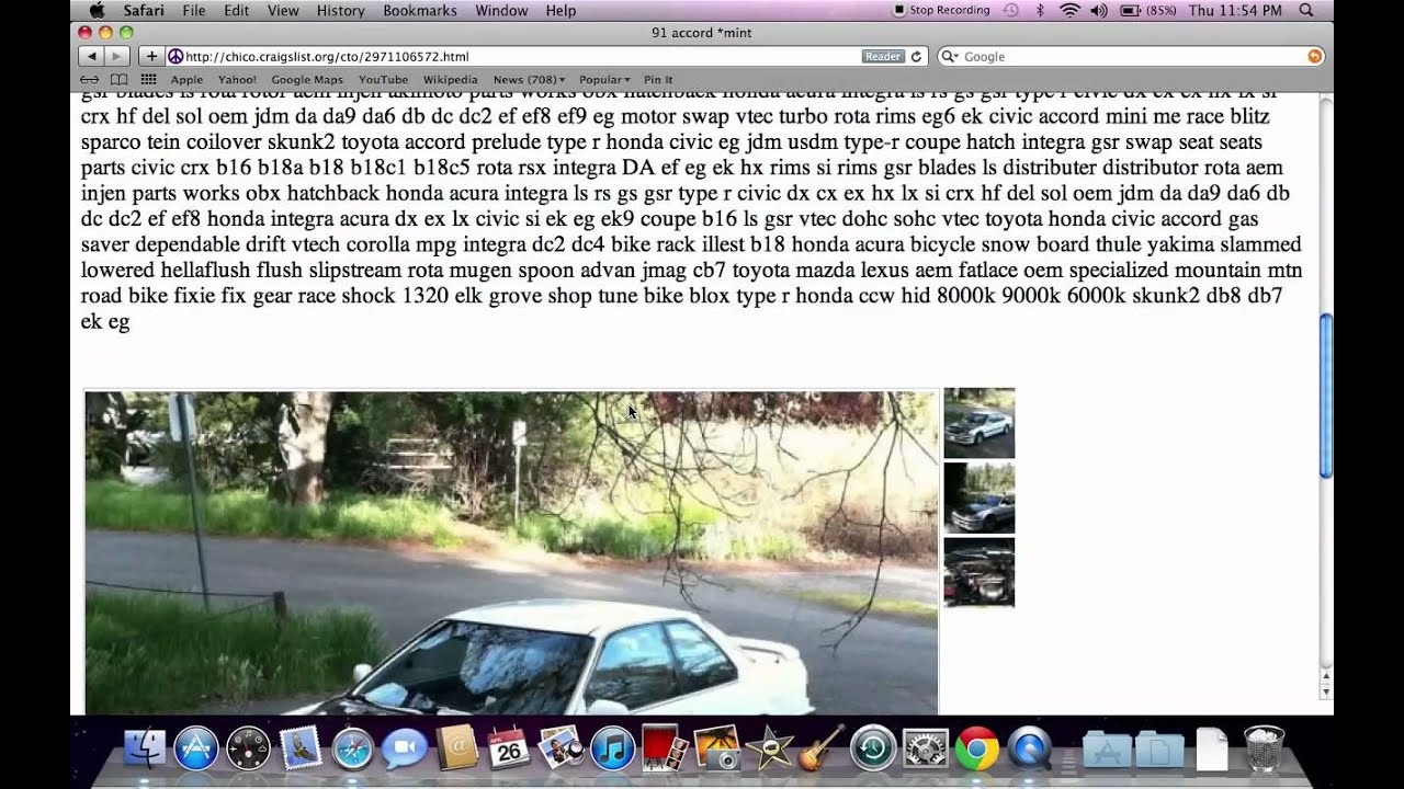 Craigslist chico used cars and trucks how to set the search under 1600 youtube