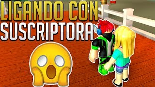LIGANDO CON UNA SUSCRIPTORA - Sunset City - ROLEPLAY ROBLOX