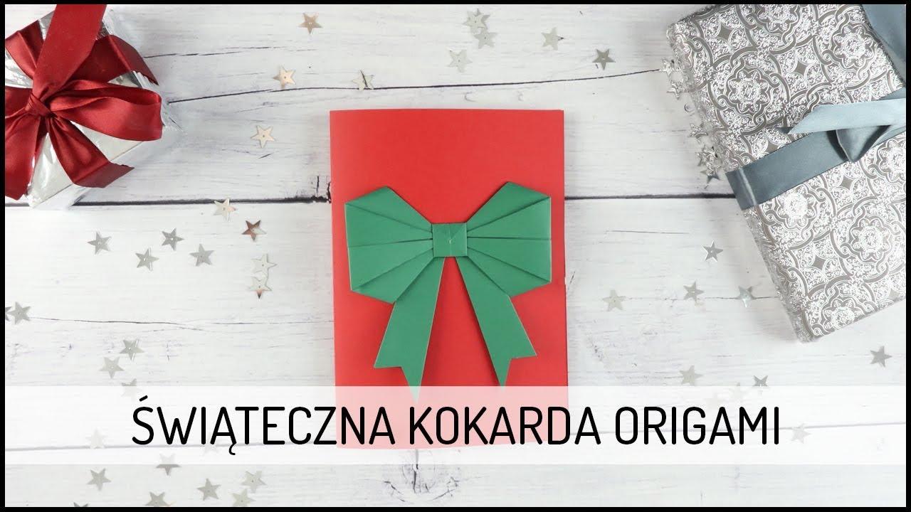Świąteczna Kokarda ORIGAMI | DIY DOMODI TV