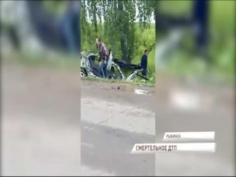 В Сети появилось видео страшной аварии в Рыбинске: погиб водитель «Мерседеса»