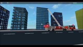 Roblox Aerial Ladder Truck Responding And On Scene