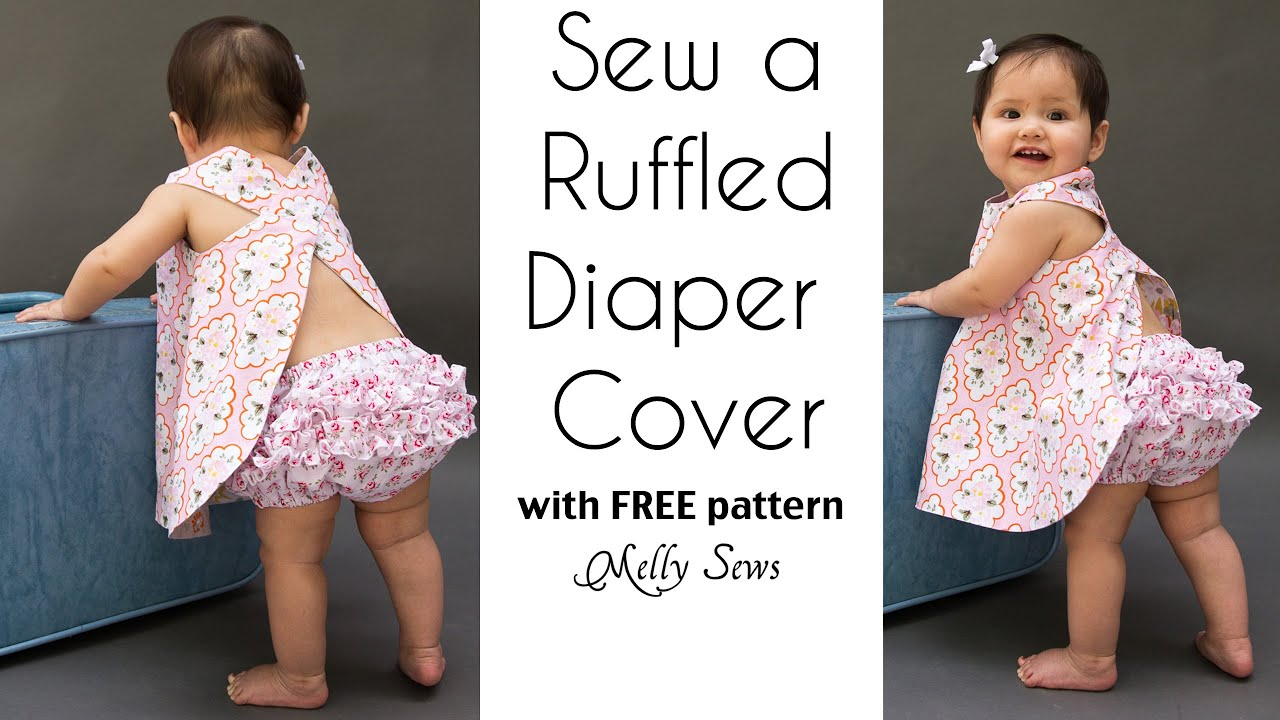 How to Sew a Ruffle Diaper Cover - Ruffled Baby Bloomers - YouTube
