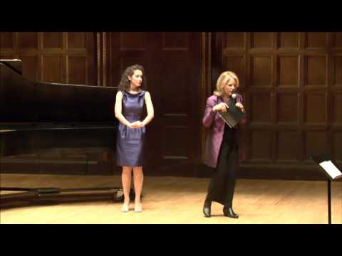 Renée Fleming Master Class, September 28, 2015: Evelyn Saavedra, Aaron Bigeleisen